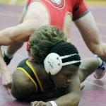 Glenelg takes down Dunbar in wrestling action