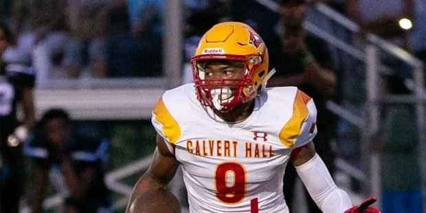 Calvert Hall's Tucker runs for three scores vs. Pallotti