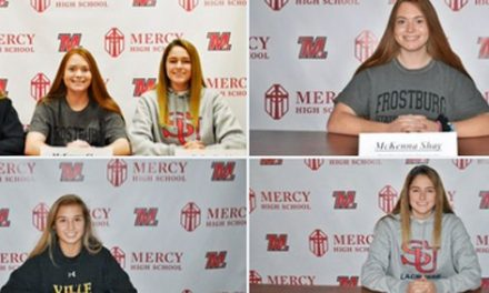 Mercy soccer has three sign National Letters of Intent