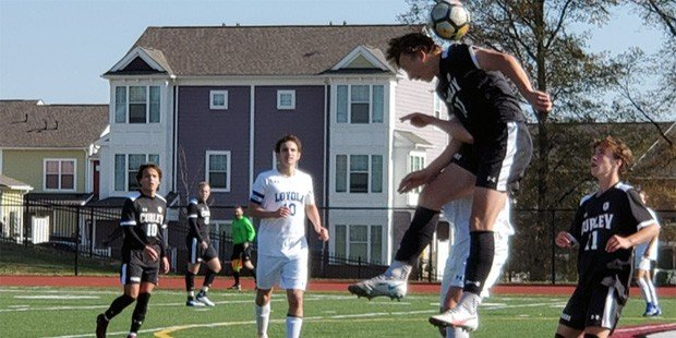 Three-goal spurt helps Curley bounce back
